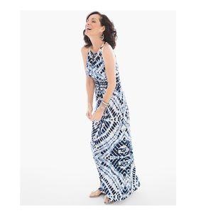 50538730c06 Chico s Dresses - Chico s Sz 2 Blue Diamond Tie Dye Maxi Dress